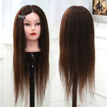14inch 100% Human Real Hair Training Head With Wig Hairdressing Dolls Style Mannequin