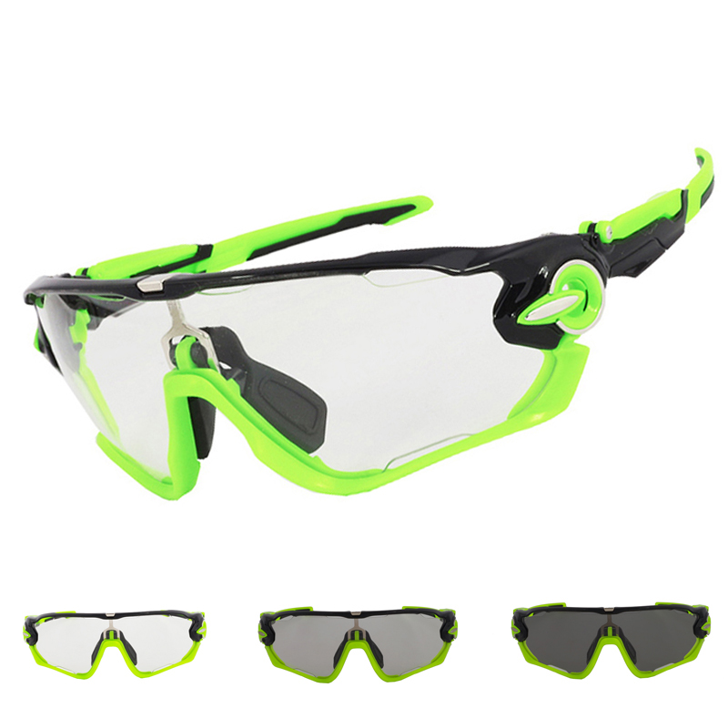Brand NEW Clear Photochromic Men Women Cycling Eyewear Sports Sunglasses Bicycle Goggles Bike Designer Riding Glasses 2016 new fashion sunglasses women brand designer sun glasses vintage eyewear