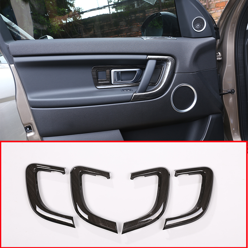 4Pcs Dark ash wood For Land Rover Discovery Sport 2015-2018 ABS Plastic Interior Door Handle Trim Sticker Car Accessories стоимость