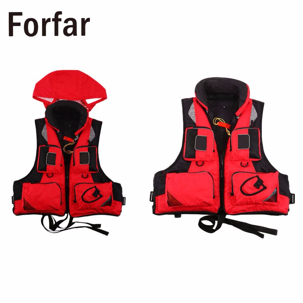Forfar new Outdoor New Life Jacket Fishing Vest For Water Sports Kayak Survival Swimwear