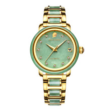 Women's Automatic Mechanical Watch Gold-plated Jade Calendar Steel Belt Women's Watch Waterproof Belt Watch Montre Femme ik colouring gold steel strip calendar automatic mechanical watch vintage mens watch male casual watch