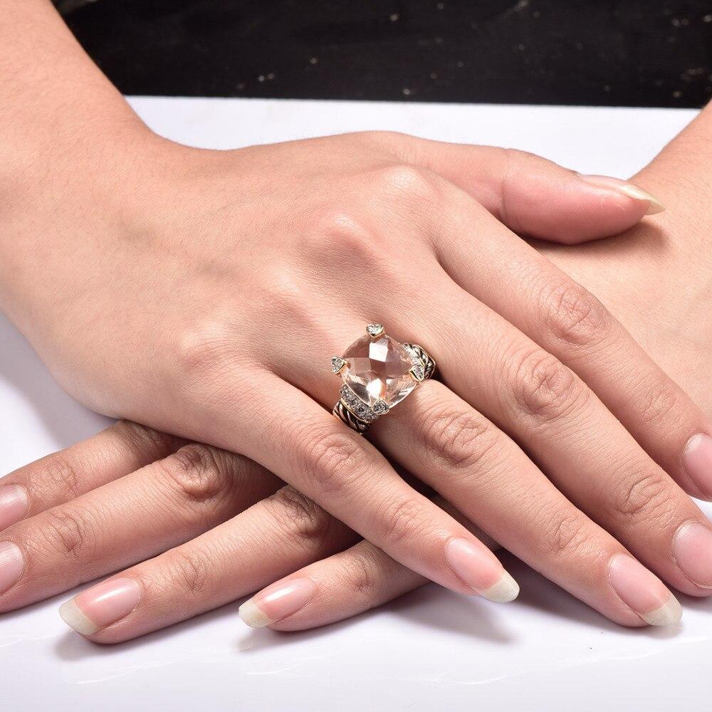 Ыстық сатылым Морганит 925 стерлинг - Сәндік зергерлік бұйымдар - фото 2