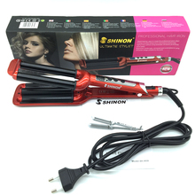 Hot Sell lProfessional Electric LCD Hair curler High Quality 3 Barre Curly Iron Ceramic Deep Waver Curling Irons