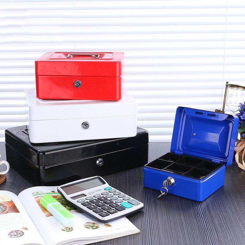 Caja de almacenamiento de Metal con llave de dinero caja de alcancía caja de almacenamiento de joyería Caja de Ahorro secreto TINTON LIFE Bolsas de almacenamiento Bolsas de conserva de alimentos 12 + 15 + 20 + 25 + 28 cm * 500 cm 5 Rollos/Lot