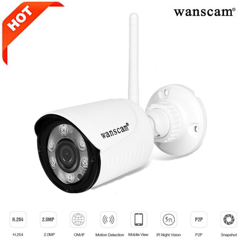 Wanscam HW0022 - 1 1080P 2MP IP Camera Wireless WiFi Outdoor Security Night Vision / P2P / Motion Detection wanscam hw0022 1080p outdoor wifi ip camera wireless cctv camera wifi security camera outdoor 2mp waterproof support tf card
