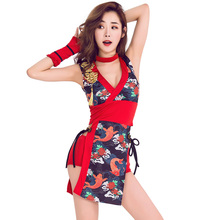 Bar ds costume sexy retro cheongsam female singer DJ collar dance clothes studio photography Japanese geisha cos