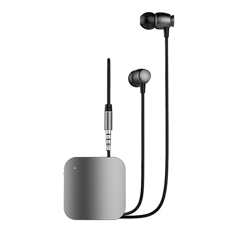 Portable Earphones Mini Clip On Stereo Headset Wireless Bluetooth Earphone With Mic Hand free Audio Receiver Adapter 3.5mm 2017 new i7 mini bluetooth earbud wireless earphones invisible headset with mic stereo bluetooth earphone fit ios android