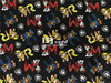 180X100cm BlackBackground PAW Patrol Polyester Cotton Knitted Fabric For Baby Boy Clothes Sewing Patchwork DIY AFCK245