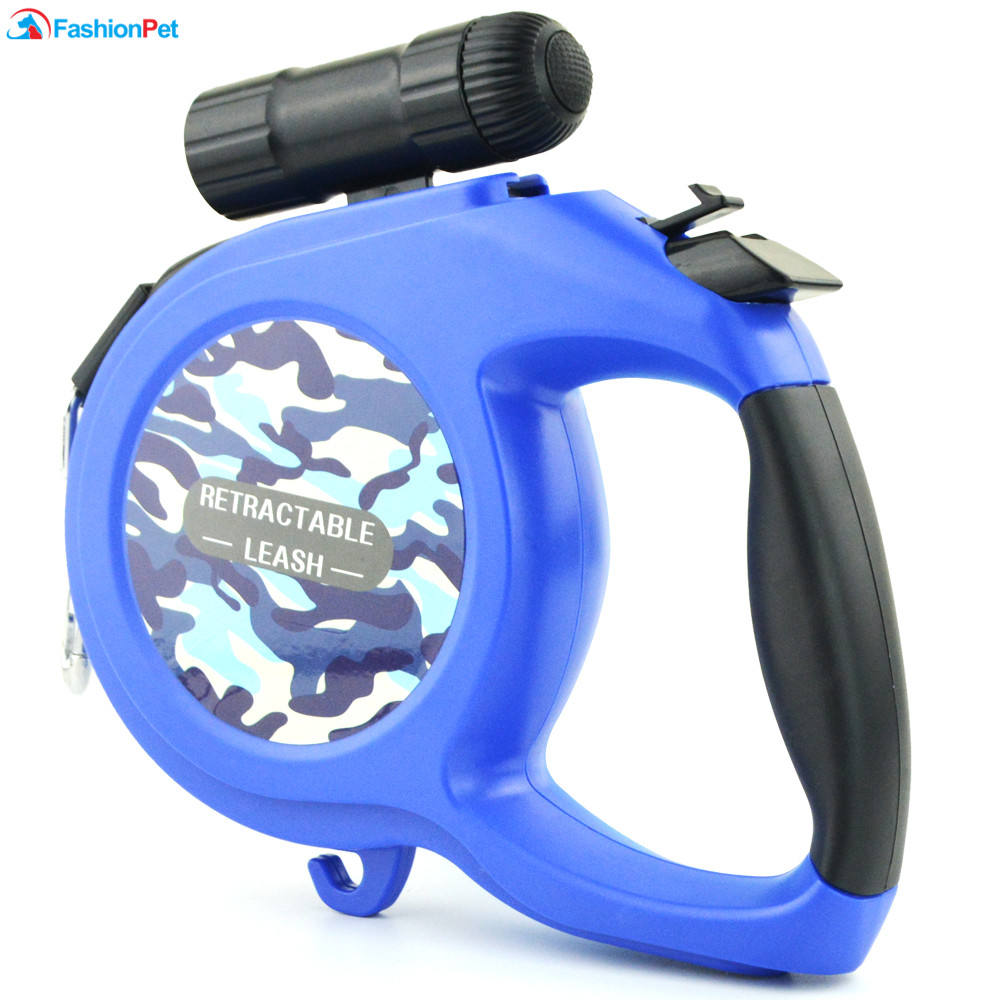 New Arrival 8M 50kg Large Dog Leash Retractable Extending Pet Leash Lead for Big and Medium Dog with LED 4