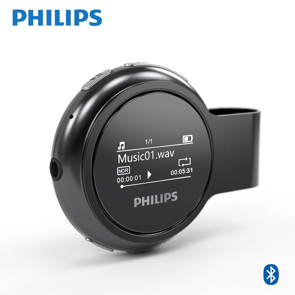 Philips Original numérique Bluetooth lecteur MP3 pour enfants USB FM Radio 8GB sans perte sans fil avec podomètre pince en métal