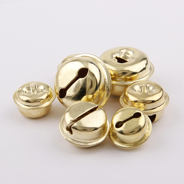18/20/26mm 10Pcs Gold Iron Ordinary Plating Jingle Bells Pendant Christmas Handmade Party DIY Crafts Accessories