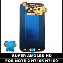 High Quality AMOLED LCDS For Samsung Galaxy Note2 Note 2 N7100 N7105 T889 i317 LCD Display Touch Screen Digitizer Assembly(China)