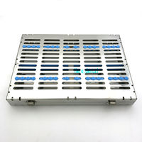 Dental Sterilization Cassette Rack Tray Box For 20 Surgical Instruments Sale