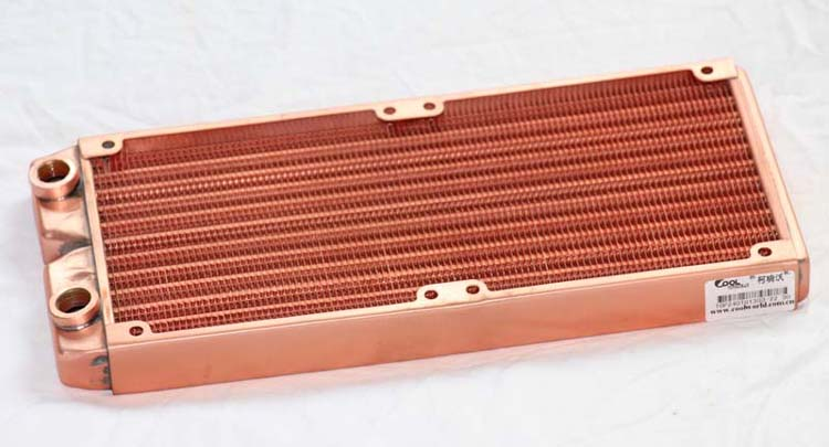 wholesale NEW 240mm water cooling radiator copper radiator water cooling  Free Shipping 5pcs lot pure copper broken groove memory mos radiator fin raspberry pi chip notebook radiator 14 14 4 0mm copper heatsink