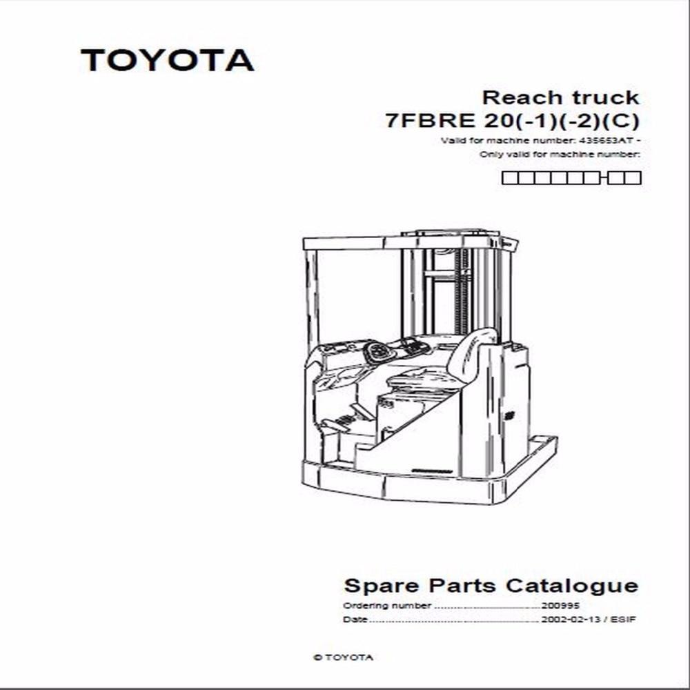 BT Forklifts Master Service Manual For Toyota