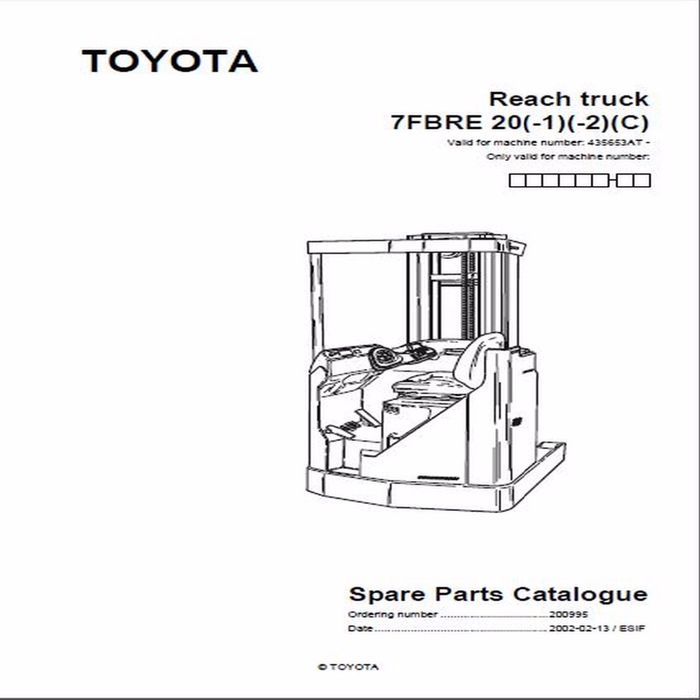 Bt forklifts master service manual for toyota china