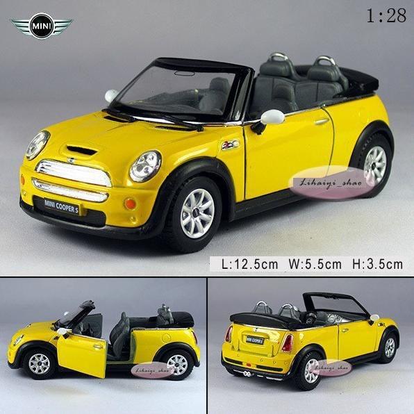 Jaune Alliage Miniature Mini 1 Cooper Ouvrir S Nouvelle 28 Voiture b7g6fyYv