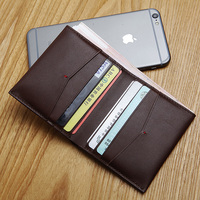 LANSPACE Men S Leather Wallet Brand Casual Pocket Wallet Original Design Slim Wallet