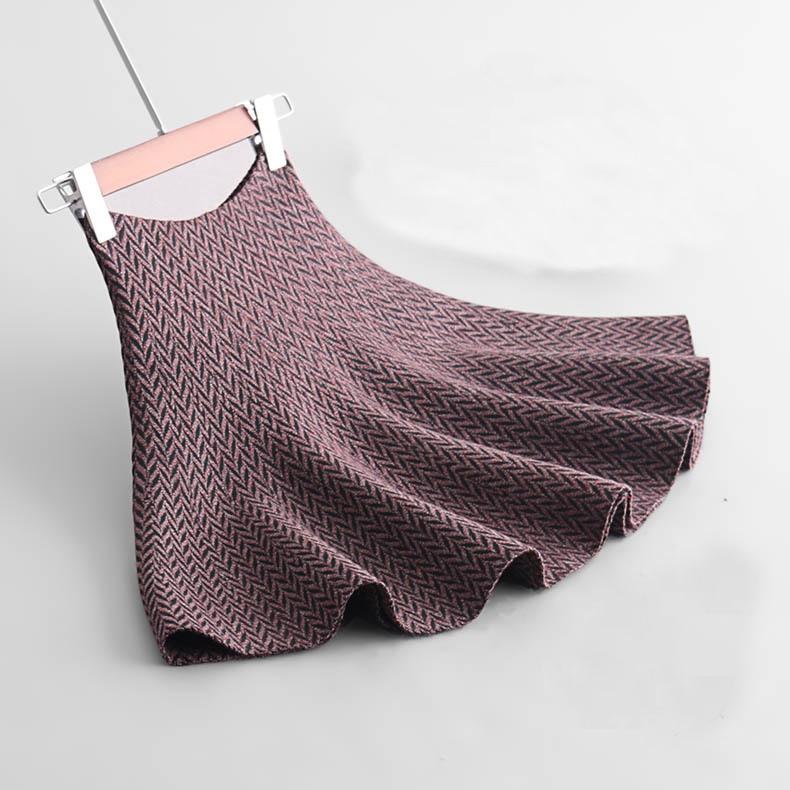 2018 herbst Frauen Stricken Röcke Hohe Taille Jacquard Frauen A-linie Röcke Saia Faldas Frauen Sexy Mini Rock Kleidung Jupe Femme