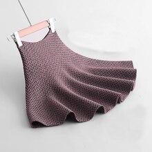 2020 Spring Women Knitting Skirts High Waist Jacquard Women A-Line Skirts Saia Faldas Women Sexy Mini Skirt Clothes Jupe Femme