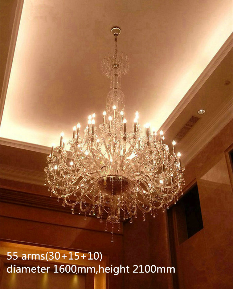 Large Clear Crystal Chandelier lamp for Church hotel living room big - Indoor Lighting - Photo 2