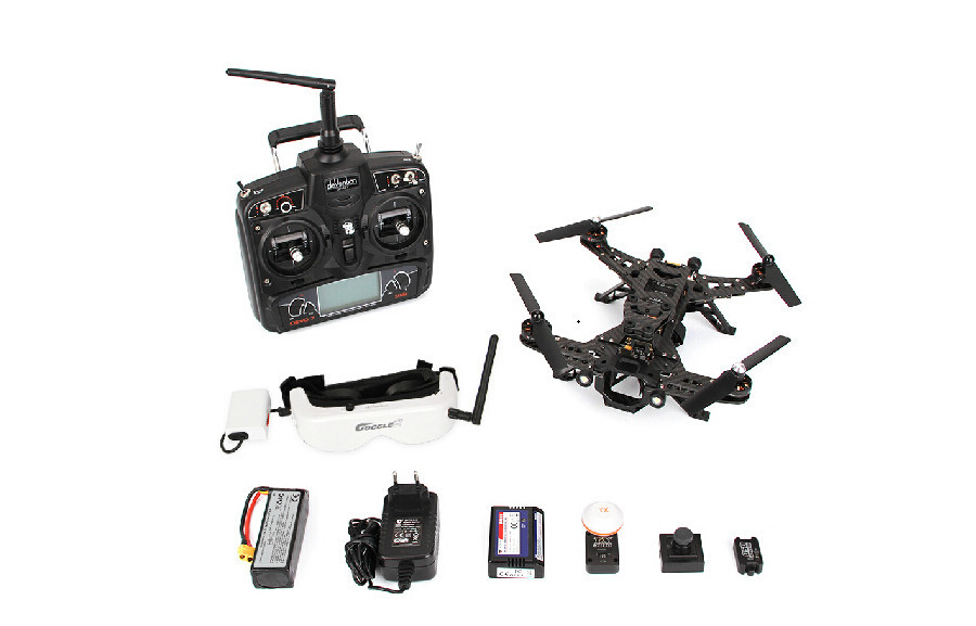 Baladera Runner 250 Drone Racer conception modulaire course DEVO 7 OSD quadrirotor Drone avec caméra HD lunettes 2 lunettes Version FPV
