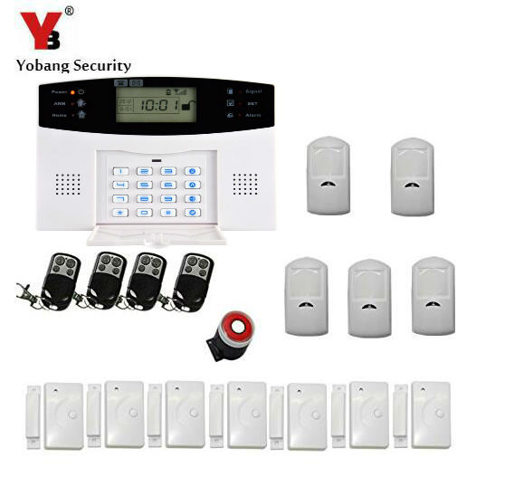 Yobang Security GSM Alarm System PIR Internal Antenna For Home Alarm System Remote Control Setting Arm 433MHZ  Yobang Security GSM Alarm System PIR Internal Antenna For Home Alarm System Remote Control Setting Arm 433MHZ