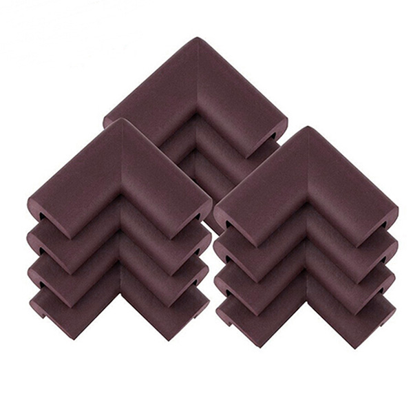 12pcs baby safety thickened nbr foam corner edge cushions desk table protector cover guard brown