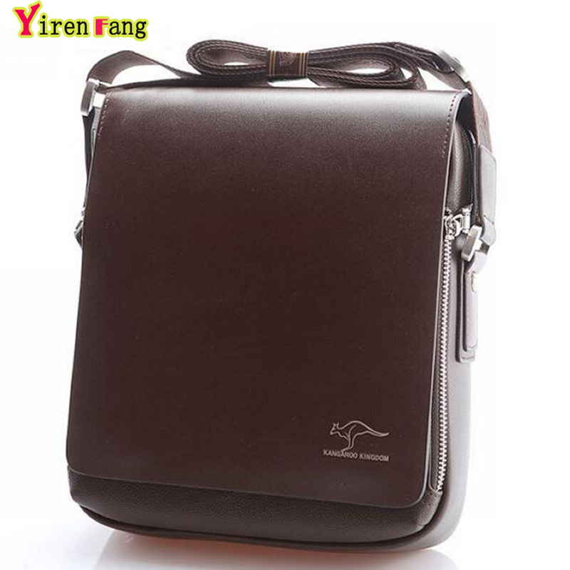 2016 men messenger bags crossbody bag for men Leather bag Kangaroo famous brand high quality shoulder bag men business briefcase yues kangaroo brand men bag leather casual high quality shoulder crossbody bags classical business briefcase mens messenger bag