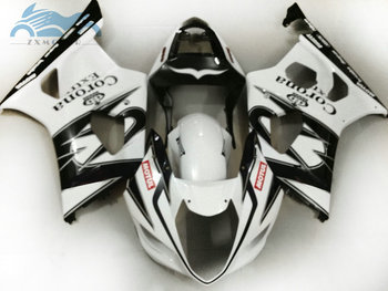 ABS plastic Fairing kits for Suzuki K3 K4 GSXR1000 03 04 sport racing motor fairings kit GSXR 1000 2003 2004 white corona parts