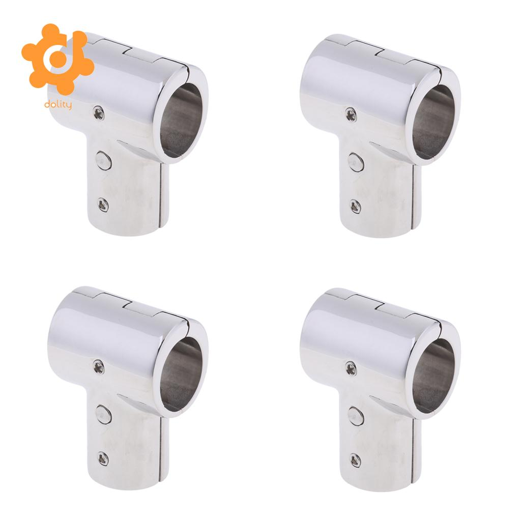 "4Pcs Boat Hand Rail Fitting 316 Marine Stainless Steel 25mm 1/"" 90 Degree Tee"