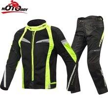 2017 motoboy Новое лето мотоциклетная куртка комплекты Ткань Оксфорд куртка мотоцикл костюм волокна сетки Прохладный куртка и штаны J17 P17