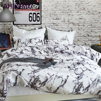 AHSNME Grey Stone Pattern Bedding Set American Size Suitable for King Queen Twin Very Soft Quilt Cover Bedroom Home Textiles