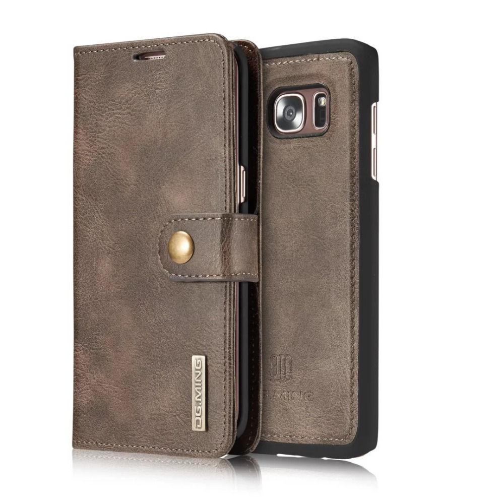 S7edge For Samsung Galaxy S7 edge Geniune Leather Wallet Cases Magnetic 2 in 1 Phone Bag Back Flip Cover Card Slot Purse