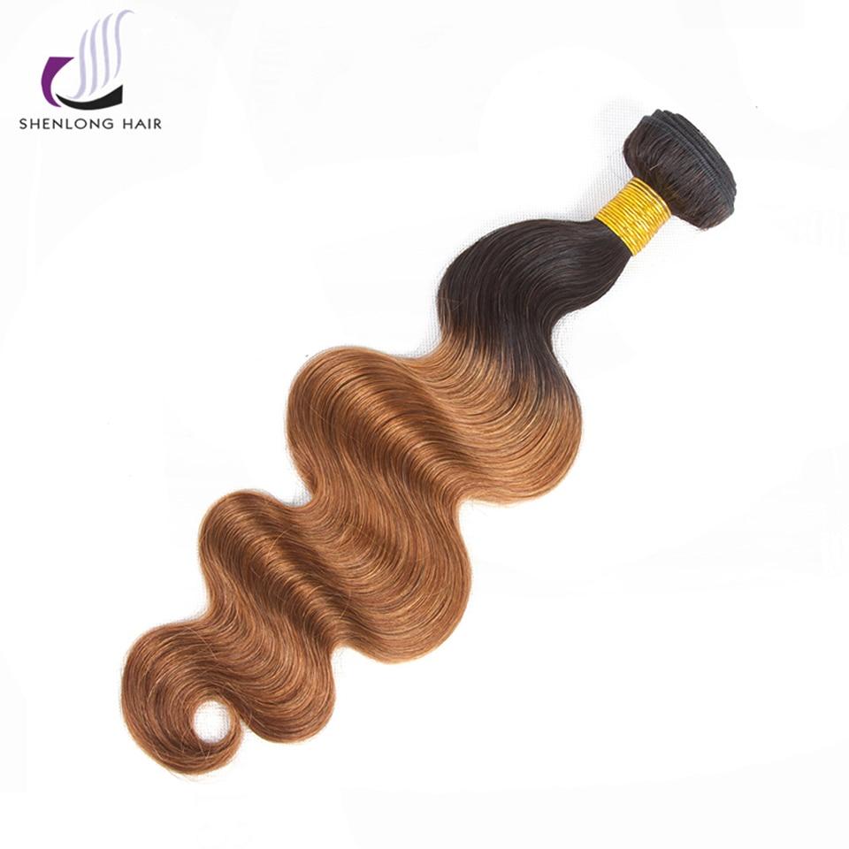 SHENLONG HAIR 100% Human Hair Malaysian Body Wave Ombre 1 Piece T1/B30 Color Non Remy Hair Bundles Extensions Free Shipping