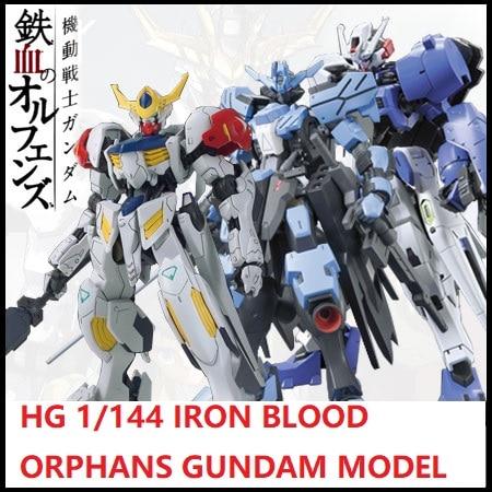 Original HG 1/144 Gundam  IRON-BLOODED Model Iron Blood Orphans Barbatos Astaroth Vidar Mobile Suit Kids Toys