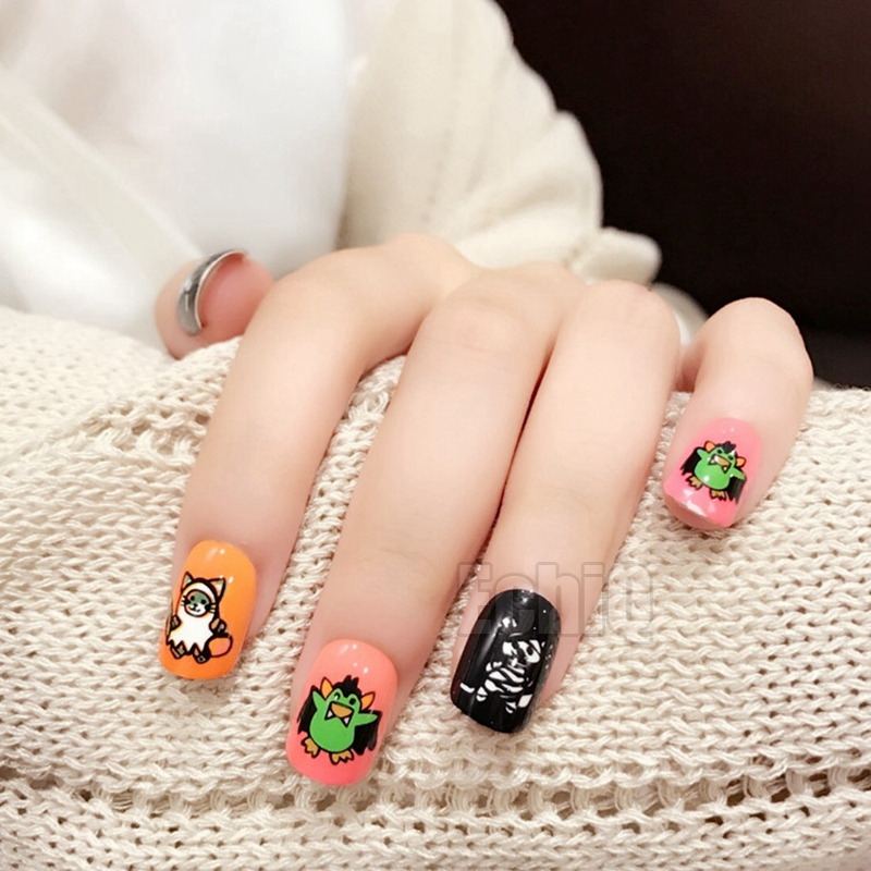 Harajuku style Fake Nails Halloween Decoration Cute False ...