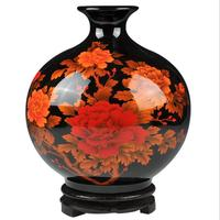 Jingdezhen Ceramics Flower Arrangement Modern Chinese Vase Home Livingroom Porch Decoration Crafts TV Cabinet Display Ornaments