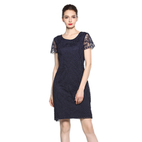 2019 Generous Autumn Women Vintage Dresses Organza Mesh Short Sleeves Leafage Embroidered Dress