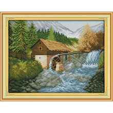 Everlasting love Bridge River (2) Chinese cross stitch kits Ecological cotton 11 14CT stamped DIY Christmas decorations for home