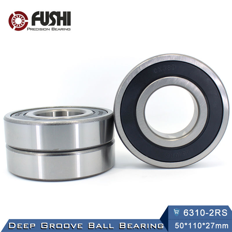 6310RS Bearing ABEC-3 (1 PCS) 50*110*27 mm Deep Groove 6310-2RS Ball Bearings 6310RZ 180310 RZ RS 6310 2RS EMQ Quality 6312rs bearing abec 3 1 pcs 60 130 31 mm deep groove 6312 2rs ball bearings 6312rz 180312 rz rs 6312 2rs emq quality