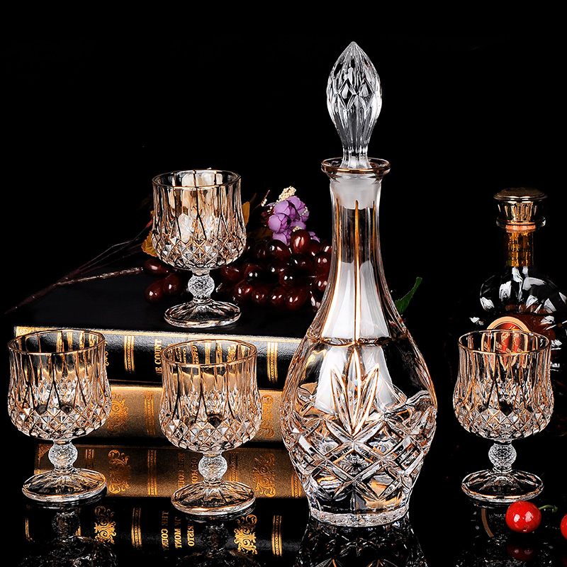 Crystal glass red wine glass whiskey brandy glass and cup wine bottle decanter creative barwarer Household