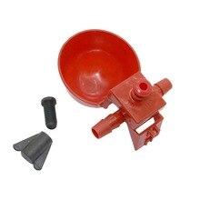 50 наборов красный поилка для перепёлок кормушка для животных Автоматическая клетка для птицы для корма птицы для кур, домашней птицы курицы поилка
