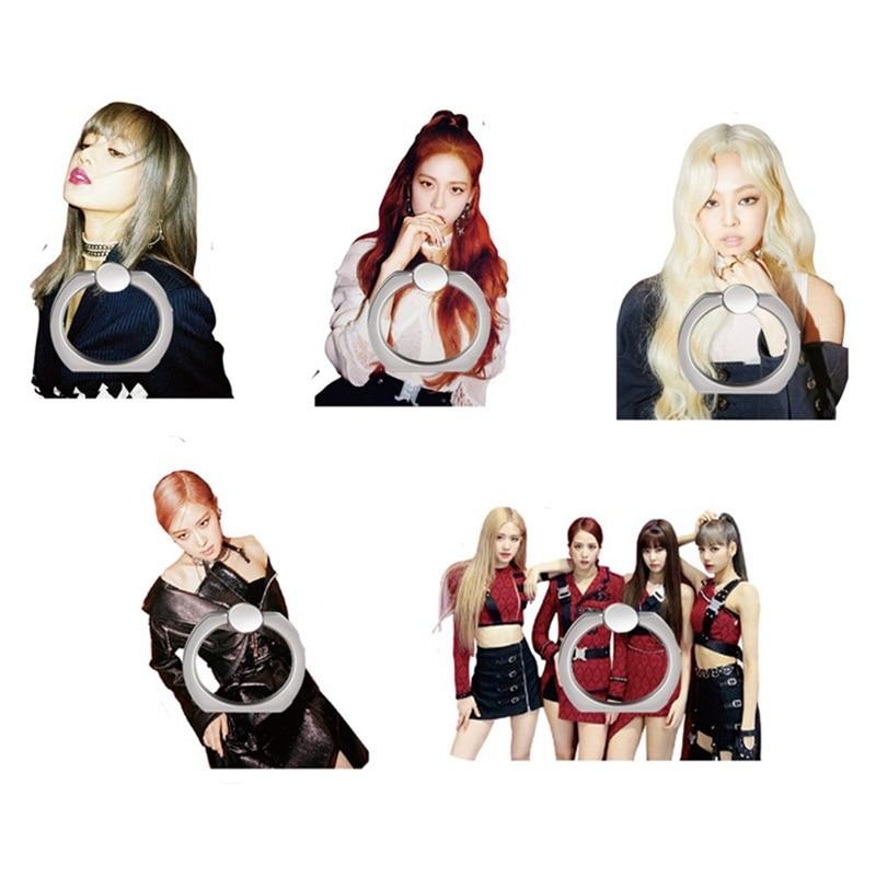 Fashion Album Jennie Rose Mobile Phone Stand Holder Kpop Blackpink Kill This Love Adjustable Universal Finger Ring