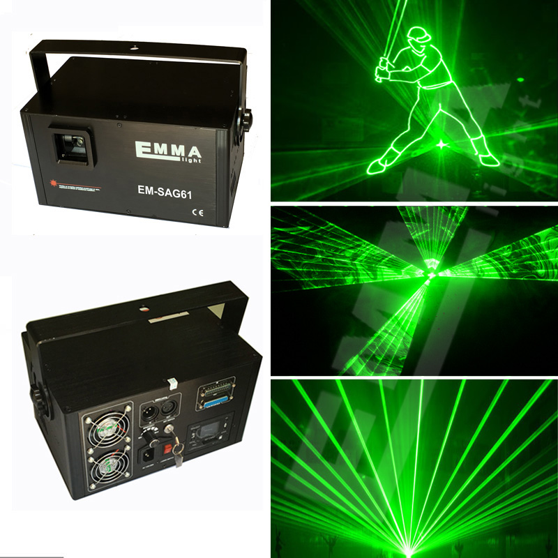 Free Shipping 1W green laser light / disco club laser show ...