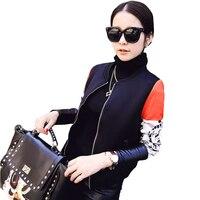 2016 New Fashion Women Spring Autumn Jacket Basball Jackets Space Cotton Famale Jacket Coat Long Sleeve