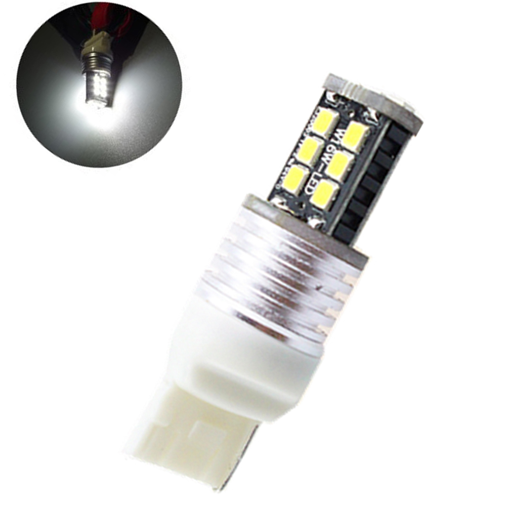 CQD-Light 1X T20 7440 7443 Canbus 15 SMD 2835 LED no error W21W 15SMD Bulb White  Turn signal Reverse Light Bulb lamp DC 12V 2x canbus car led light bulb 7440 7443 2835 smd12v auto light reverse backup lighting for 2014 mazda 5 6