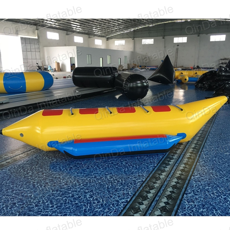 Outdoor summer adult toys inflatable water banana boat seats water games flyfish banana boat for kids super funny elephant shape inflatable games kids slide toy for outdoor