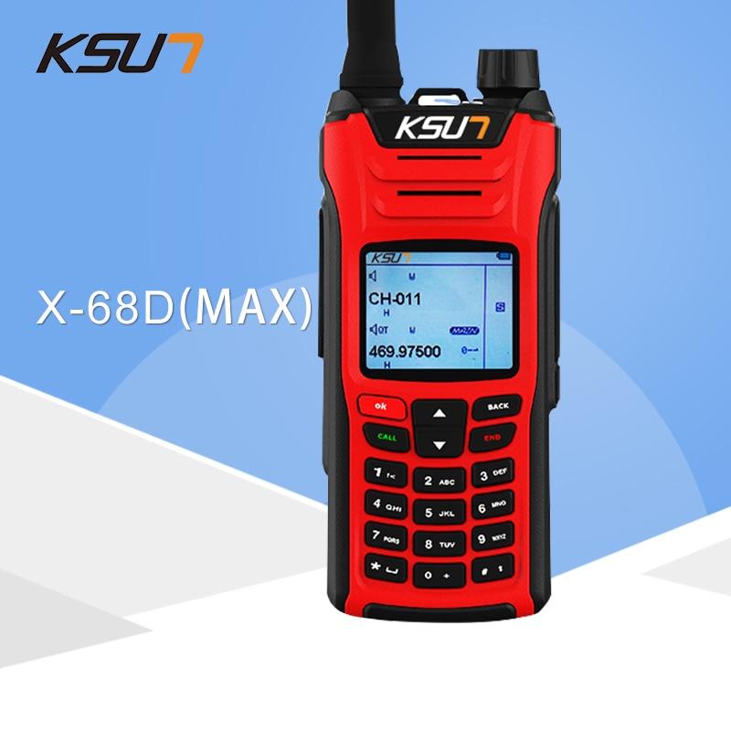 KSUN X-UV68D(MAX) Walkie Talkie 8W High Power Dual Band Handheld Two Way Ham Radio Communicator HF Transceiver Amateur Handy