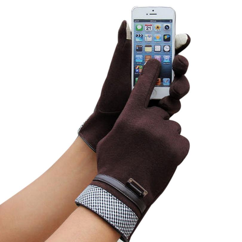 MUQGEW Fashion Men Touch Screen Winter Outdoor Sport Warm Gloves Winter Gloves Leather Gloves men All Handmade